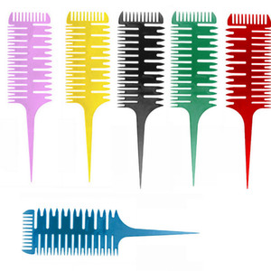 Dyeing Fish Bone Salon Coloring Styling Hair Comb Dispensing Women Sectioning Highlighting Brush Practical Girls Modeling