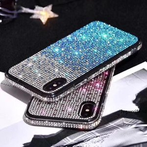 Gradient Rhinestone Case For iPhone 11 Pro Max Bling Glitter Diamond Phone Cover For iphone xs xr 8 7 plus for huawei p30 pro