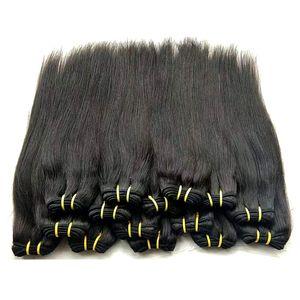 Оптовые дешевые Бразильские прямые человеческие пачки волос WEAVES 1KG 20 штурмовиков много естественных черных цветных нерехие качество человеческие волосы 50 г / шт.