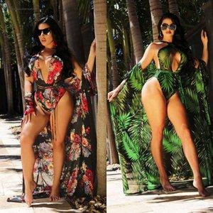 2020 Sexy Women Floral Bikini Beachwear Cover Up Beach Dress Summer Bathing Suit Tops Drop Shipping