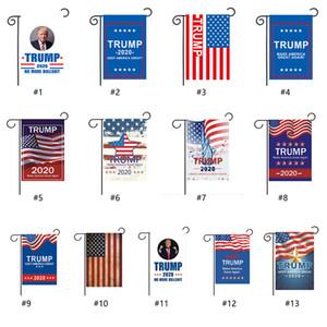 30 개 * 45cm 트럼프 정원 플래그 미국 대통령 선거 배너 집 마당 야외 장식 2020 트럼프 깃발 페넌트 배너 부활절 신고