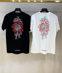 CH Crowe Cross Sanskrit Horseshoe Tide brand 2020 new printed men and women couple half-sleeved short-sleeved T-shirt
