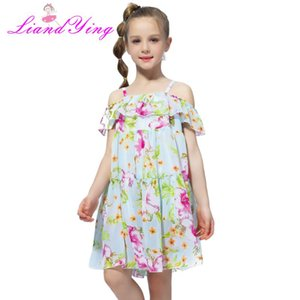 2020 Casual Girls Beach Sundress Girls Dress Bohemian Summer Dress For Teenage Kids Teen Clothes 6 8 10 12 Year