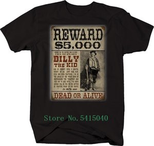 2019 Giyim Sıcak Billy The Kid Ödül Poster banka soyguncusu Tişört Tee Gömlek Özelleştirilmiş Comics Erkek Tişört Baskılı Boy Erkek