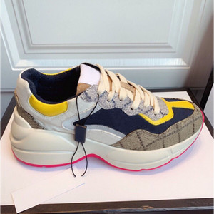 Designer senhora calçados casuais 100% couro sapatilha das mulheres Letters plataforma sapatos de mulher de moda de luxo lace-up homens novos sapatos tamanho grande 35-42-45