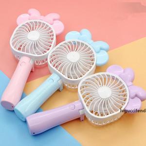 Mini Folding Portable Fan Cartoon Mouse USB Rechargeable Foldable Handheld Summer Air Cooler Cooling Fan Portable Fan Kids Toys