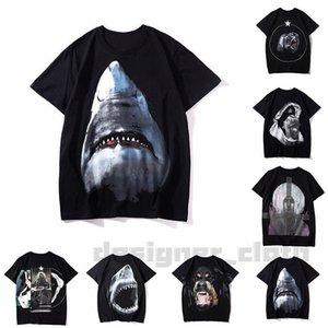 20SS Hommes T-shirt 2020 Homme Femme de haute qualité pour femmes T-shirts Lettre Imprimer Casual Shark orang-outan dogShort manches Mode Hommes T-shirts