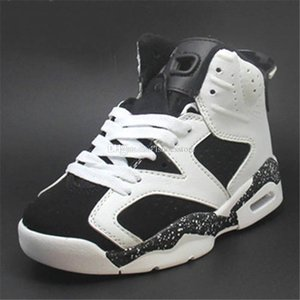 2019 new children's breathable basketball shoes 6 black sports children sneakerboy girl shoes fashion wild girl birthday gift eur 28-35