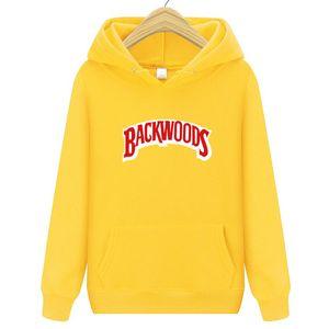 Heiße Männer Hoodies Hip Hop Marke Hoodies beiläufige Sweatshirt mit hochwertigen Backwoods Druck Sweatshirts Male Fashion Hoodie