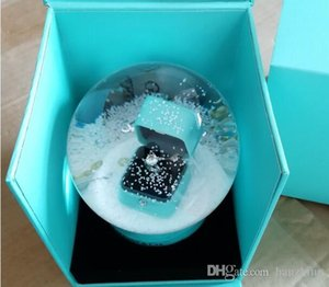 NEW VIP Gift ! Golden Snow Globe With Ring Box Inside 2018 Snow Crystal Ball for Birthday Novelty Christmas