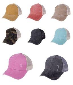 Горячий продавать 11Color Cc Hat хвостик CC Бейсбол Hat Девочка софтбол Шляпы Назад Hole Pony Tail Glitter Mesh Бейсбольная CC Cap # 440