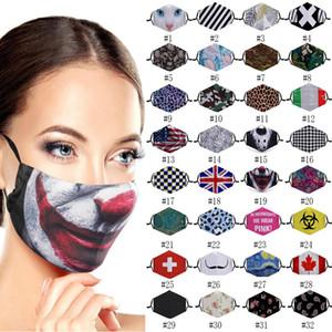 Transfronteriza más estilo 3D impresa diseñador mascarilla a prueba de polvo y la máscara de oreja colgando personalizados transpirable parodia con máscaras de filtro