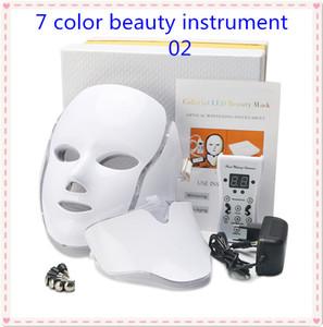 220 EU Plug7 Цвета терапии красоты Фотон LED маска для лица Light Уход за кожей Омоложение морщин удаления прыщей лица шеи Beauty Spa Инструмент