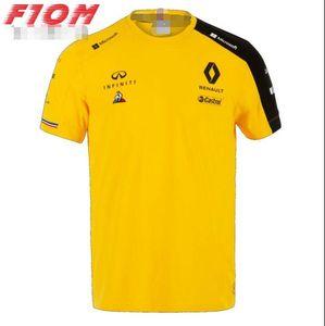 F1 new season Renault team racing suit polyester quick-drying Hockenberg Ricardo round neck short-sleeved T-shirt custom