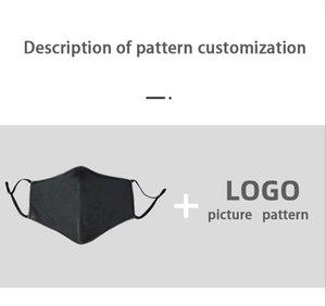 Gratuit DHL / UPS Mask impression de motif personnalisé logo mots masques de bricolage pour personnaliser le coton cadeaux publicitaires personnalisés de création