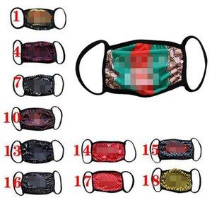 18colors marca Moda Unissex rosto máscaras lavável de designer de luxo máscara moderno reutilizáveis impressão respirável à prova de vento máscaras ciclismo anti-poeira