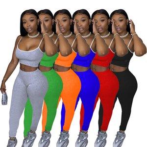сплошной цвет женские костюмы designerfashion случайные женщины короткие 2 шт сексуальный комплект строп брюки набор Sportsuit Плюс размер женской одежды S-XXL