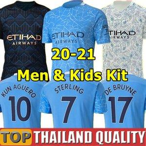 20 21 city soccer jerseys STERLING DE BRUYNE KUN AGUERO 2020 manchester MAHREZ GESUS BERNARDO RODRIGO football shirt Men Kids kit uniform
