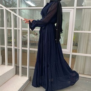Eid Mubarek Abaya Dubai Turkey Hijab Muslim Fashion Dress India European American Islam Clothing Dresses For Women Oman Vestidos CM6319