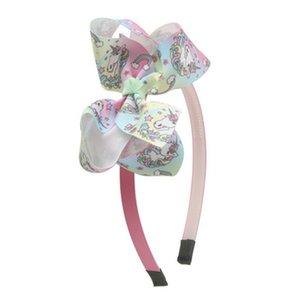 Us 179 20 Offhair Bow Headbands For Girls Boutique Rainbow Printed Ribbon Knot Bow Hairbands Hair Hoop Children Hair Accessorieshair lPccs
