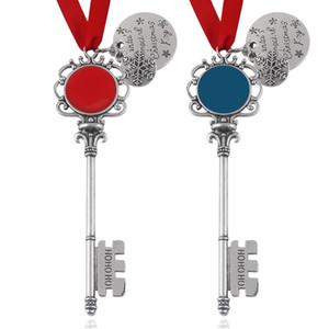 Hot Sale New Christmas Magic Santa Claus Key Pendant Ornaments Decorations Xmas Halloween Gifts Xmas 2Colors