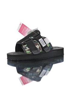 New A Bathing x Suicoke Mastermind JAPAN Skull x Beach Slippers Olive Green MMJ Man And Women Lovers Fashion Casual Sandals