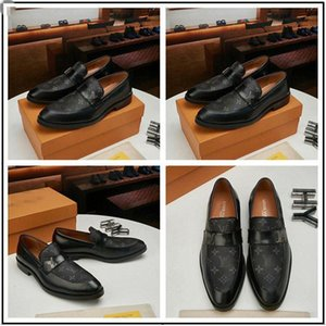 2020 New TOP! Brand Red Bottom Loafers Luxurious Party Wedding Shoes Designer BLACK PATENT LEATHER Suede Dress Shoes For Men Slip On Flats