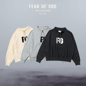 FG Standı Yaka Kış Sonbahar Erkekler Kadınlar Tişörtü Tanrı Kapüşonlular Erkekler Hoodies Sokak Hiphop Of Sis Essentials Korku Casual Hoody Running Ilık