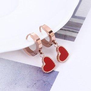 Outdoor Lovely Charm Women Studs Latest Heart Pendant Lady Earrings Birthdya Gift For Girlfriends Stud Jewelry