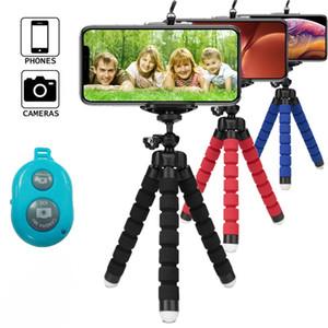 휴대 전화 홀더 유연한 삼각대 브라켓 아이폰 12 (11) 프로 맥스 XR XS 카메라 셀카는 지원에게 제어를 원격 스탠드