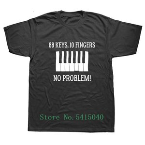 Weelsgao البيانو 88 مفاتيح 10 أصابع لا مشكلة T شيرت مطبوعة أزياء تي شيرت نمط الجدة الإبداعية عارضة مضحك التي شيرت