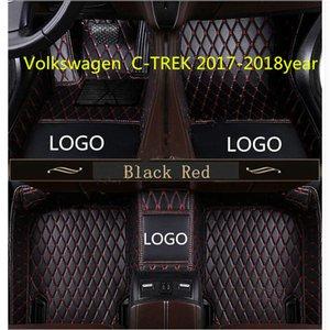 el material hecho a medida coche de la estera del suelo impermeable y PU cuero, adecuado para Volkswagen C-TREK 2017-2018year