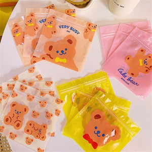 Sevimli Ayı Plastik Poşet Düğün Doğum Çerez Şeker Hediye OPP Kendinden yapışkanlı Parti yq2088 Yana Çanta Packaging