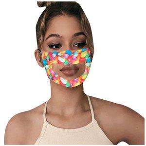 Protege el color de caramelo boca respirador claro anti neblina moda mascarilla de cara safe mute transpirable mascarilla niña niño oído colgando tipo 7ml b2