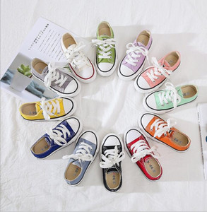 A New Best-selling Spring low top canvas shoes children's canvas shoes parents and children's small white shoes