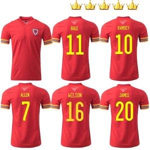 Men +Kids 2020 2021 Wales soccer jersey cup 20 21 BALE ALLEN James Ben Davies Wilson camisetas team home RED maillot jerseys football shirt