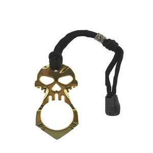 Llavero del cráneo de salida de emergencia del partido Broken Chain ventana Clave llavero herramienta de la autodefensa del llavero del favor de la supervivencia al aire libre GGA3564-1
