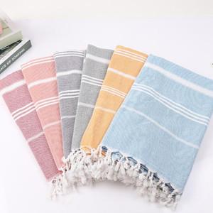 listrado turca toalhas de banho borla algodão natação desporto toalha de banho ginásio praia para adultos cobertor moderna