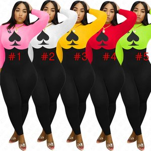 Designer Primavera manga comprida Mulheres Jumpsuit One Piece Romper Pants Bodysuit Macacões Festa Ladies Luxury desgaste apertado D72305 Catsuits Boutique