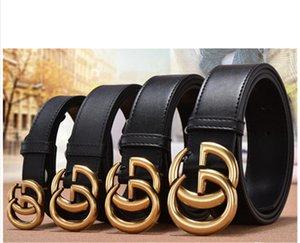 Top-Designer-Gürtel Mode Mode Luxus Buchstaben Schnallengurt glatt entworfen für Männer und Frauen-Jeans Zubehör Gürtel 4 Arten en gros