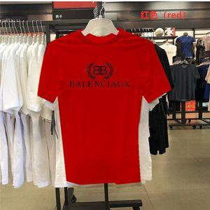 T-shirt des hommes de l'Ouest T-BALENCIAGA Shirt Vêtements homme courbé Hem longue ligne T-shirts Tops Hip Hop Urban Blank Shirts VERSACE Designer