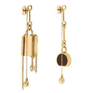 LOUISVUITTON pendientes de diseño cc borla aretes de diseño de moda aretes de perla pendientes de aro de diseño P2 acrílico de oro