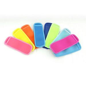 Wholesale18 * 6cm Popsicle Détenteurs Pop Ice manches Congélateur Holders Pop ou enfants Cuisine d'été Outils 10 atout couleur DH0174