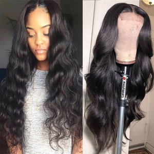 Lace Front Human Hair Wigs Pre Plucked 4*4 Lace Closure Wig Brazilian Body Wave Wig For Black Women Lace Frontal Wig