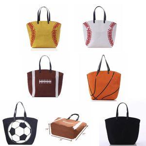 Сумка софтбола Холст бейсбол состязания спортивные повседневные сумки футбол футбол баскетбол холст сумки домашнее хранение сумки 7 стилей CGY296