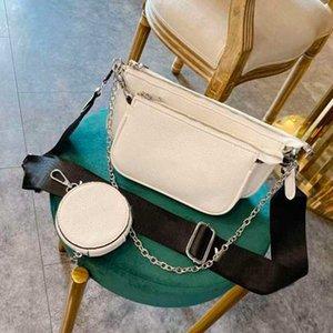Qualità donne catena di Crossbody borsa Portafoglio Sacchetti della signora di spalla delle donne a tre pezzi Flower Bag Mahjong Coin Purse Key