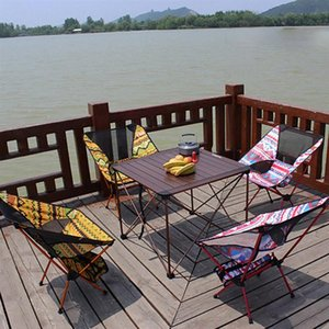 Portable Beach Chair Outdoor Chaise pliante Ultraléger Portable Lune compacte Chaises pliantes Camping Lightweight Iks4 #