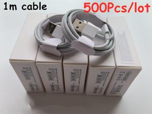 500PCS 7 세대 원래 OEM 품질 1m / 3피트 2m / 6피트 소매 새로운 패키지와 USB 데이터 동기화 충전기 전화 케이블