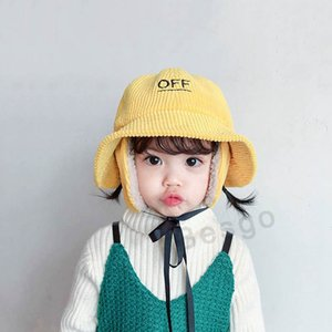 New Kids Warm Winter Hat Cute Ear Protection Fisherman Hats For Girls Fashion Children Sun Cap Baby Wide Brim Beach Hat 4 Colors DBC BH2828