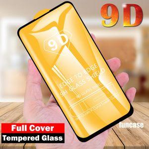 9D cobertura completa completa Glue vidro temperado aresta curvada Screen Guard Film Protector Para Xiaomi redmi Nota 9 Pro Max 9A 9C 9S 8 8A T8 K30 K30i 10X